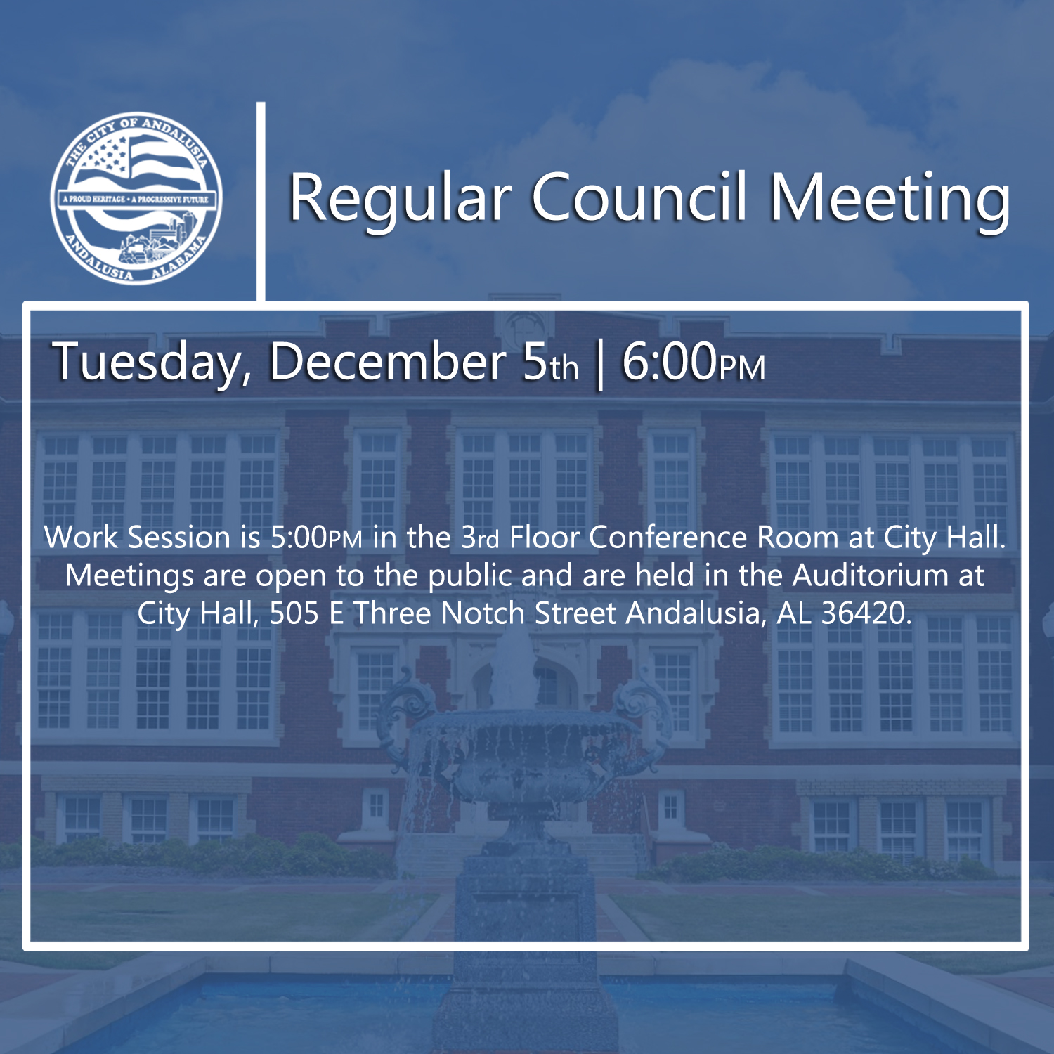 Website Regular Council Meeting Dec 5