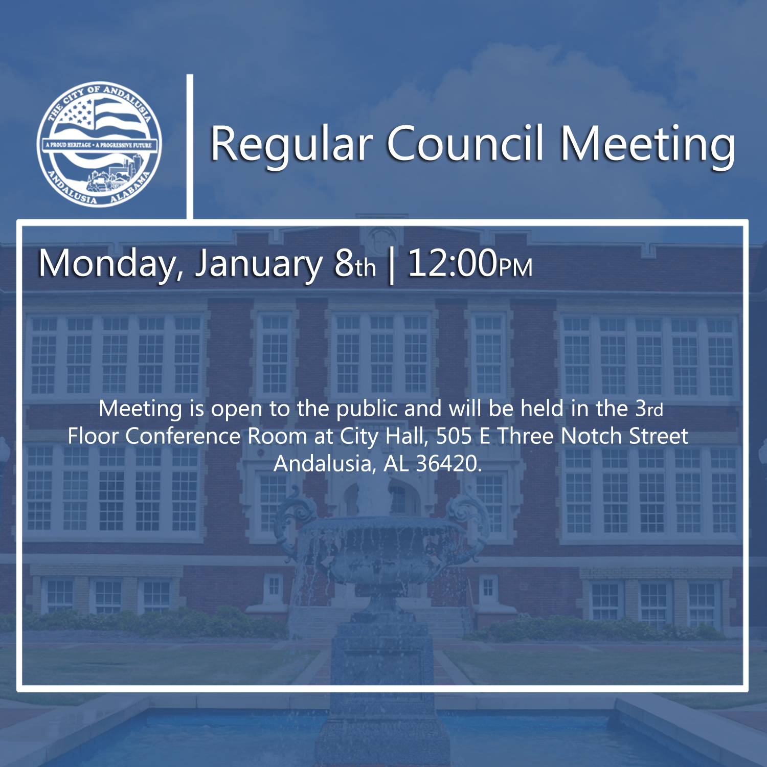 Website Regular Council Meeting Jan 8