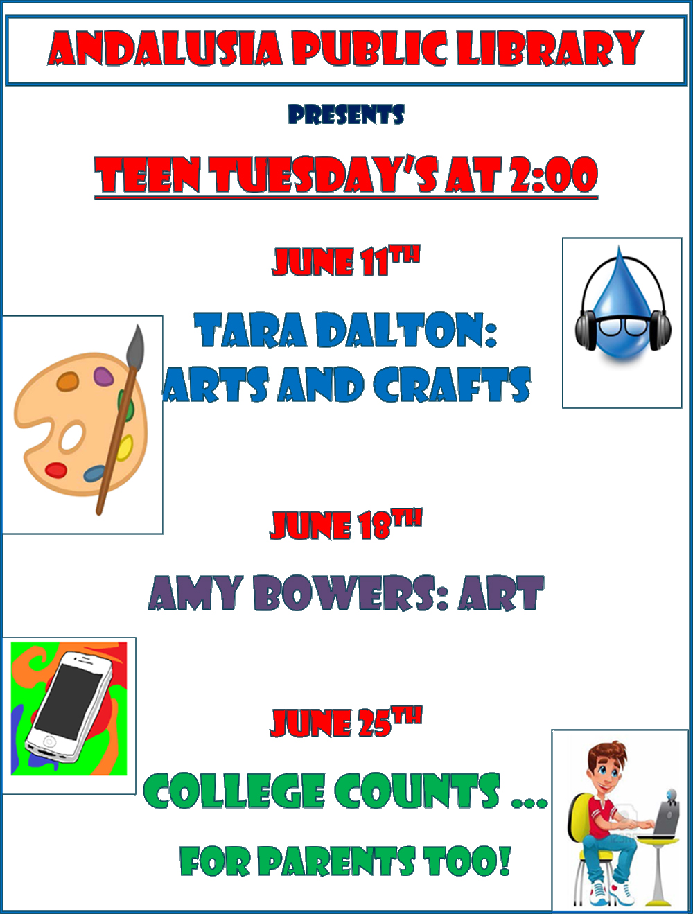 2019 APL Teen Tuesday Summer Flyer
