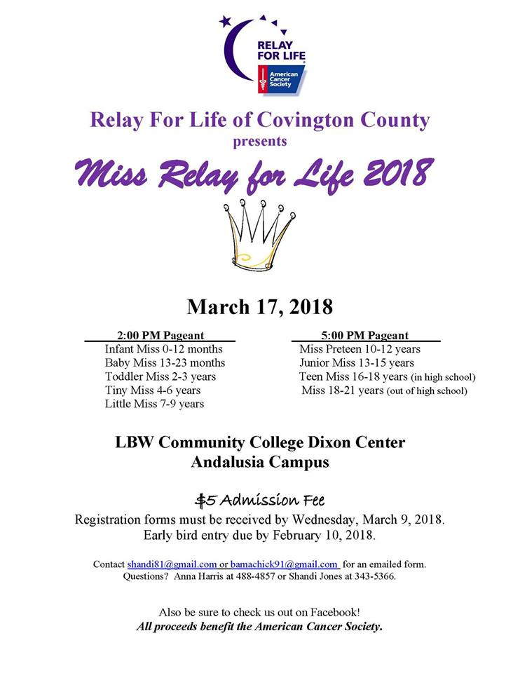 Miss Covington County Relay for Life