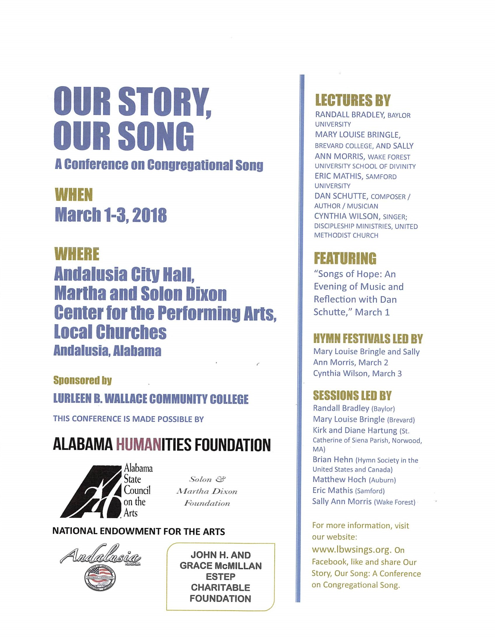 Our Story Our Song Flyer