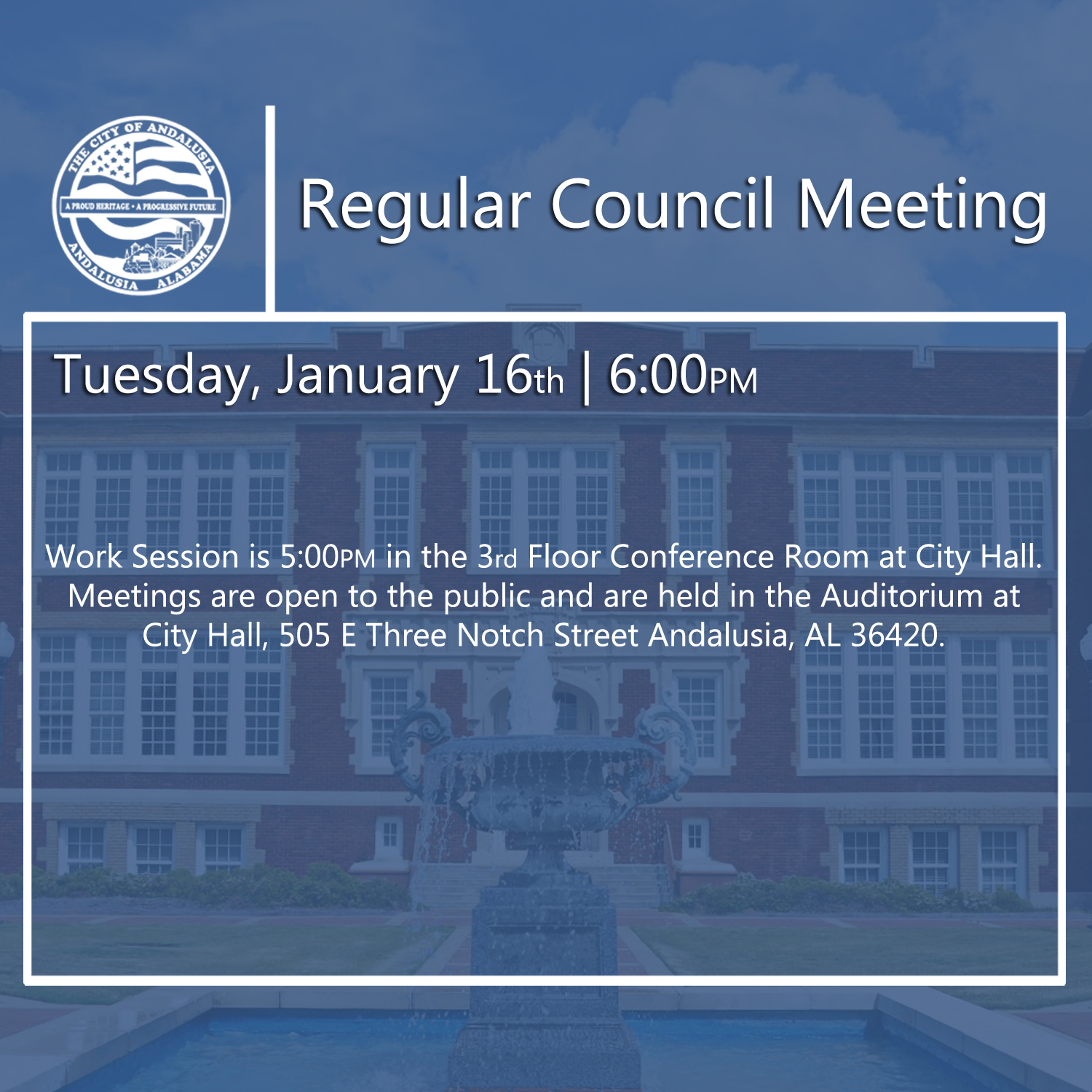 Website Regular Council Meeting Jan 16