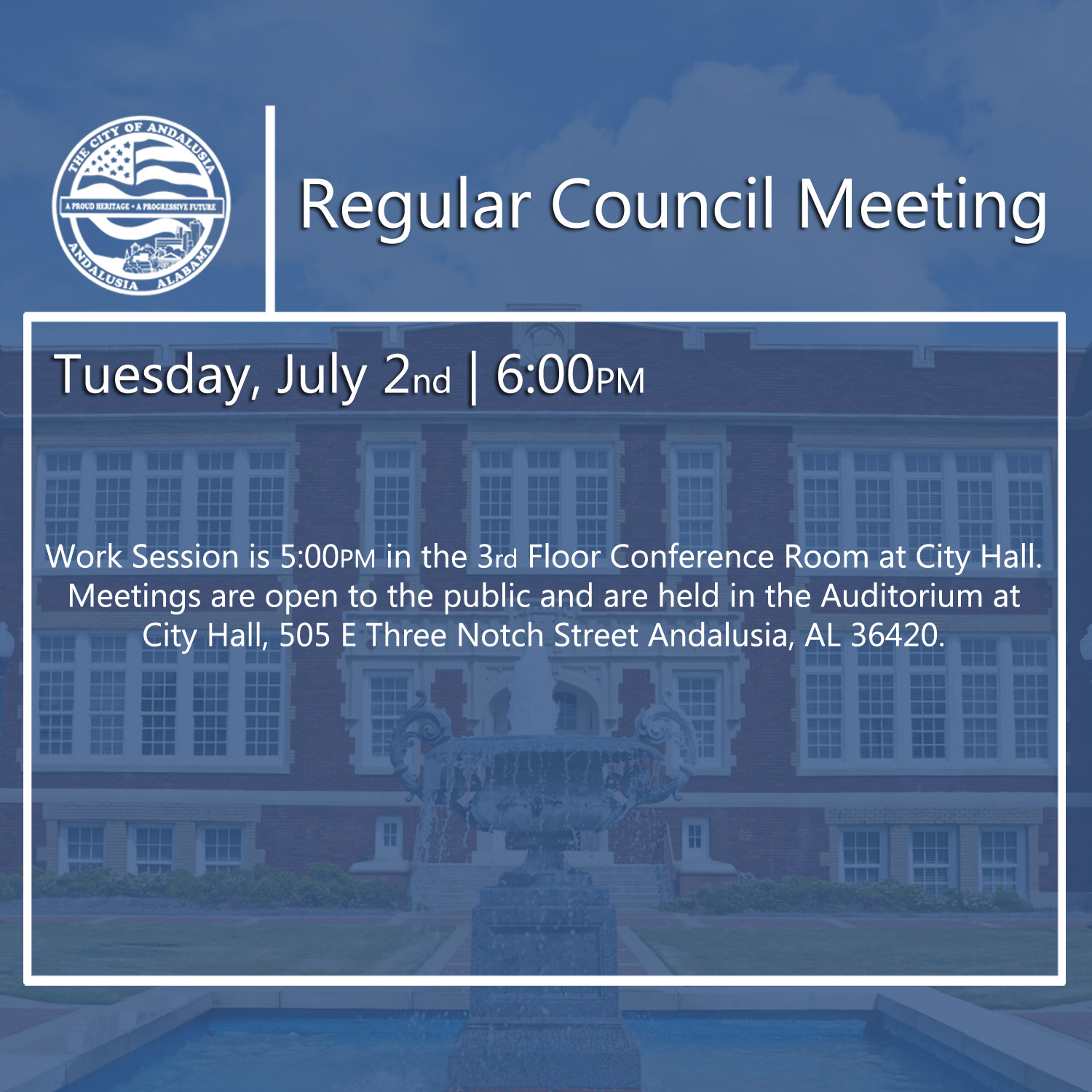 Website Regular Council Meeting July 2