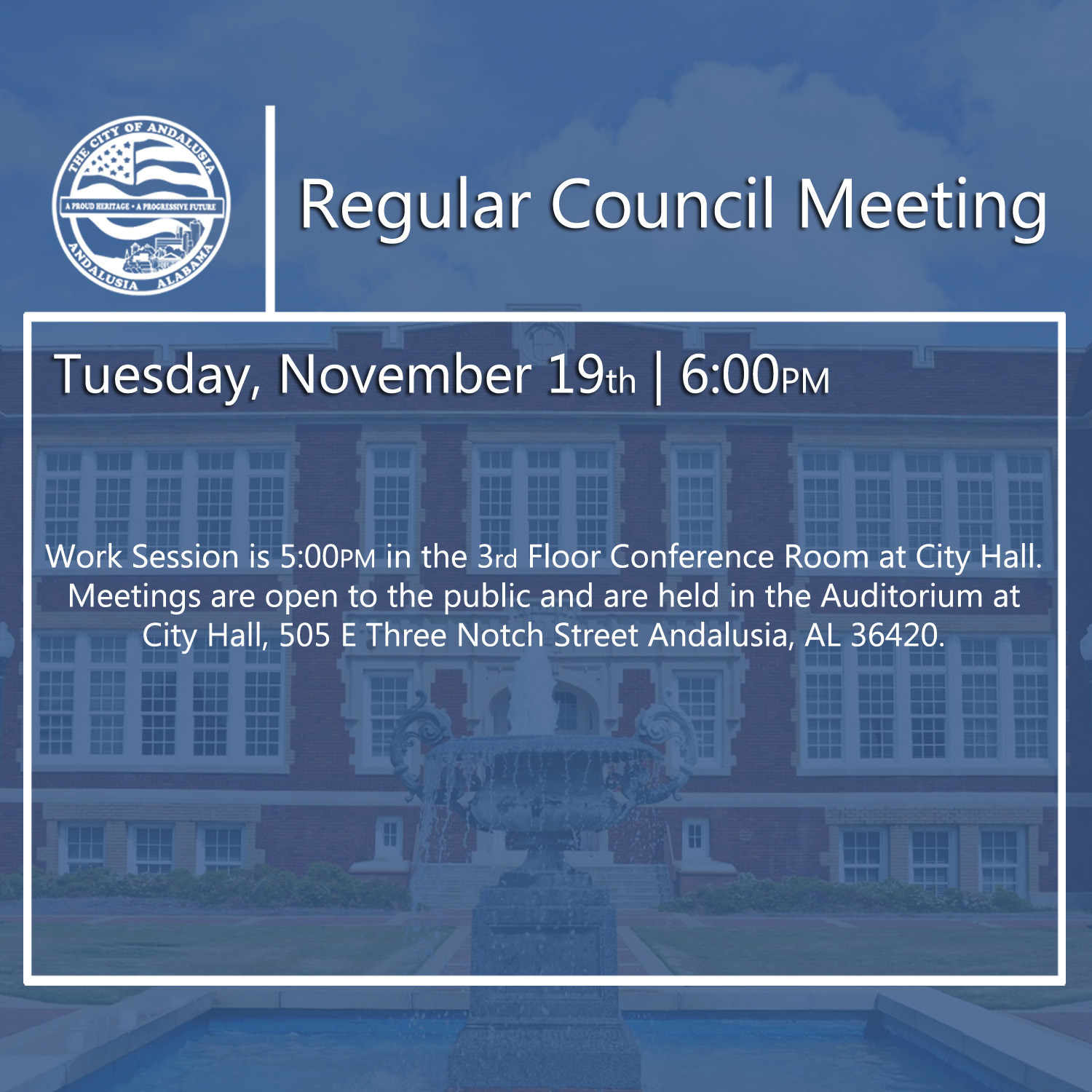 Website Regular Council Meeting November 19