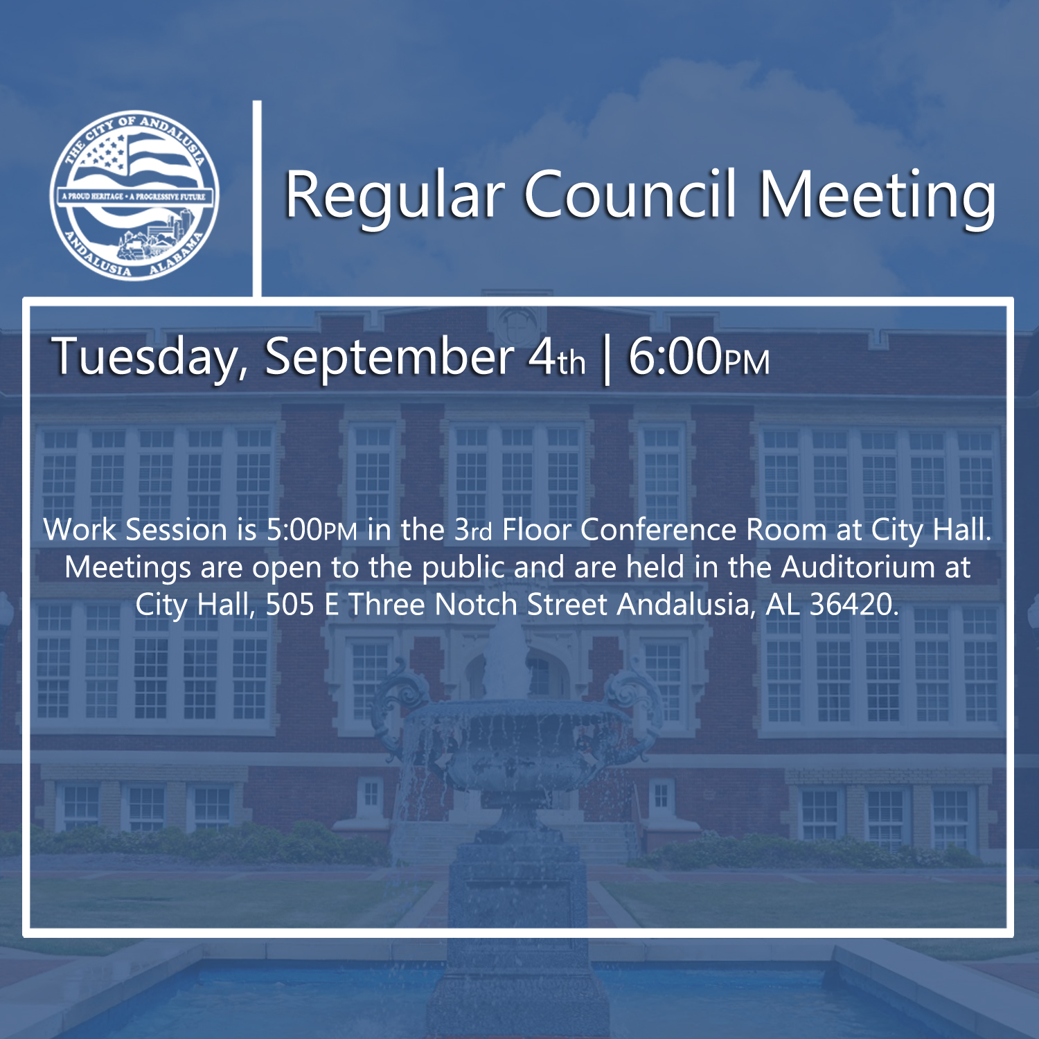 Website Regular Council Meeting September 4